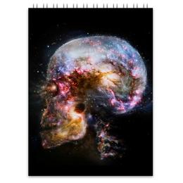 """Блокнот """"Universe skull"""" - череп, вселенная, космос, skull"""
