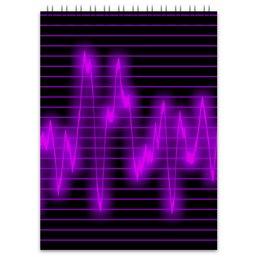 """Блокнот """"Мелодия"""" - музыка, узор, звук, краски, звуковая волна"""