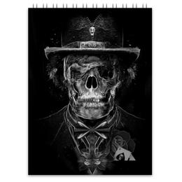 """Блокнот """"Mr. Skull"""" - skull, череп, костюм, фокусник"""