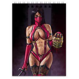 """Блокнот """"Mileena"""" - sexy, mortal kombat, scorpion, милина, mileena"""