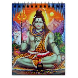 """Блокнот """"Шива (Shiva)"""" - шива, shiva, господь шива, lord shiva, mahadev"""