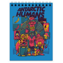 "Блокнот ""Antarctic Humans"" - обезьяна, рок музыка, рок группа, арт прикол, antarctic monkeys"