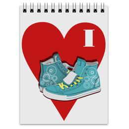 """Блокнот """" I Love """" - кеды, converse, конверс"""