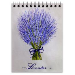"""Блокнот """"Лаванда"""" - цветы, рисунок, лаванда"""