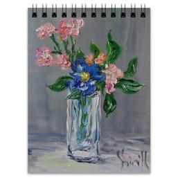 """Блокнот """"Нежность"""" - весна, цветочки, букет, ваза, нежность"""
