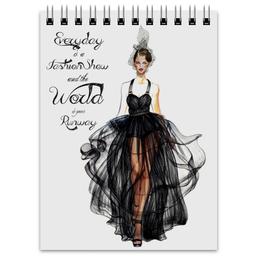 """Блокнот """"Black fashion dress"""" - black, черный, мода, fashion, цитата"""