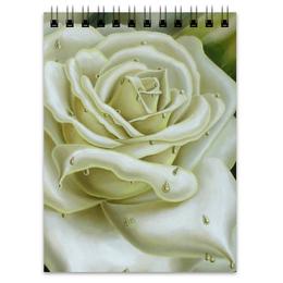 """Блокнот """"Белая роза"""" - арт, цветы, роза, белая роза"""
