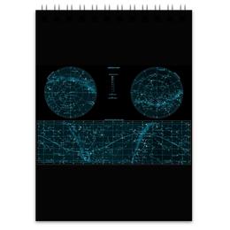 """Блокнот """"Карта звёздного неба"""" - карта, дизайн, звёзды"""