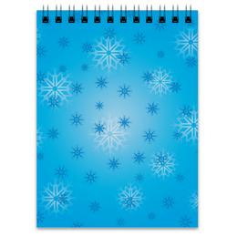 """Блокнот """"Снежинка"""" - праздник, новый год, зима, снег, снежинка"""