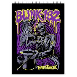 "Блокнот ""Blink-182"" - punk, панк, blink 182, blink182, блинк 182"