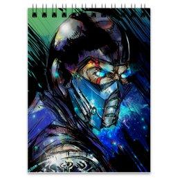 """Блокнот """"Mortal Kombat X (Sub-Zero)"""" - воин, боец, mortal kombat, sub-zero"""