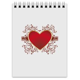 """Блокнот """"Red Heart"""" - сердце, heart, сердца, red heart, красное сердце"""