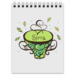 """Блокнот """"Блокнот Зеленый чай"""" - на 8 марта, для письма, скетчи, для рисунков"""