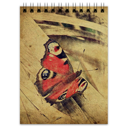 "Блокнот ""Бабочка"" - бабочка, лето, винтаж, природа, сепия"
