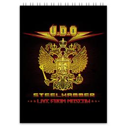 """Блокнот """"U.D.O. Band"""" - heavy metal, accept, udo, udo dirkschneider, удо диркшнайдер"""