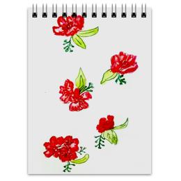 """Блокнот """"Блокнот Красные цветы"""" - цветы, маки, лето, цвести"""