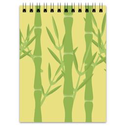 """Блокнот """"Бамбуковый"""" - листья, растения, япония, бамбук, катай"""