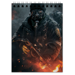 """Блокнот """"Warfare"""" - война, огонь, человек, военный, огнемет"""