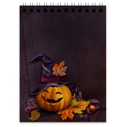 """Блокнот """"Хэллоуин"""" - хэллоуин, тыква"""