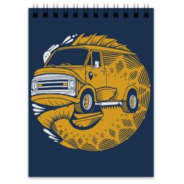 "Блокнот ""FISH BUS / Рытобус (рыба автобус)"" - арт, иллюстрация, рыба, машиина"