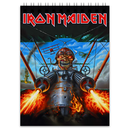 "Блокнот ""Iron Maiden Band"" - rock, heavy metal, рок музыка, iron maiden, eddie"