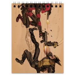 "Блокнот ""Дэдпул vs Росомаха"" - комиксы, deadpool, марвел, wolverine, логан"