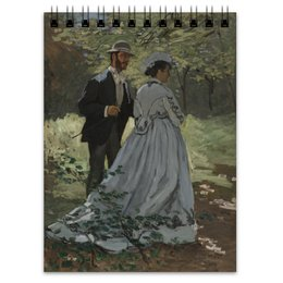 "Блокнот ""Базиль и Камилла (картина Клода Моне)"" - любовь, картина, импрессионизм, живопись, моне"