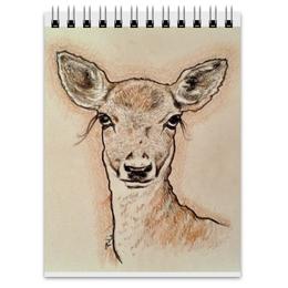 """Блокнот """"Олень"""" - олень, нежность, лань, deer, цветные карандаши"""