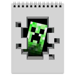 "Блокнот ""Крипер. Майнкрафт"" - игры, minecraft, майнкрафт, крипер, геймерские"