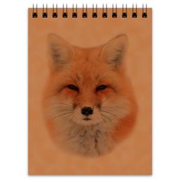 """Блокнот """"Лисица"""" - собака, лиса, животное, рыжая, хитрая"""