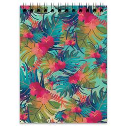 """Блокнот """"Джунгли"""" - цветы, краски, природа, акварель, джунгли"""