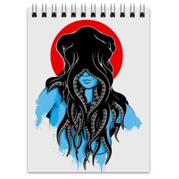 """Блокнот """"Octopushead Girl"""" - девушка, осьминог"""