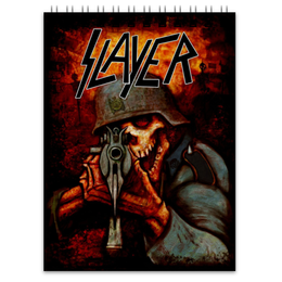 "Блокнот ""Slayer Band"" - рок музыка, рок группа, slayer, thrash metal, трэш метал"