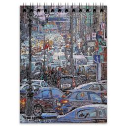 """Блокнот """"Охотный ряд"""" - арт, москва, город, пейзаж, живопись"""
