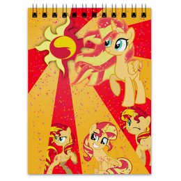 "Блокнот ""Sunset Shimmer Color Line"" - magic, cutiemark, friendship, sunset shimmer"