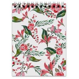 """Блокнот """"Цветы на белом"""" - цветы, роза, листья, природа, пион"""