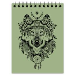 """Блокнот """"Тотем. Волк"""" - графика, волк, тотем"""