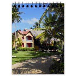 """Блокнот """"""""Доминикана. Тропический сад"""""""" - лето, путешествия, travel, пальмы, доминикана"""