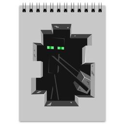 """Блокнот """"Эндермен. Майнкрафт"""" - игры, minecraft, майнкрафт, геймерские, эндермен"""