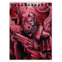"Блокнот ""Хеллбой"" - комиксы, демон, hellboy, хеллбой, dark horse comics"