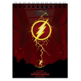 "Блокнот ""Flash/Флэш"" - flash, комиксы, dc, dc comics, флэш"