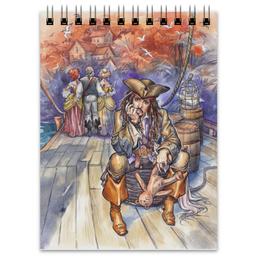 "Блокнот ""Капитан Джек Воробей."" - арт, рисунок, пират, джек воробей, пираты карибского моря"
