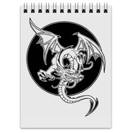 "Блокнот ""Дракон"" - дракон, рисунок, графика, фэнтэзи"