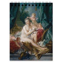 "Блокнот ""Туалет Венеры (картина Франсуа Буше)"" - картина, живопись, мифология, франсуа буше, афродита"