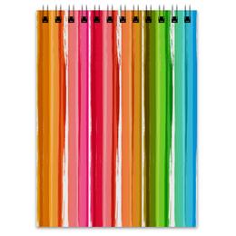 """Блокнот """"Радуга"""" - узор, радуга, рисунок, полосатый, красочный"""