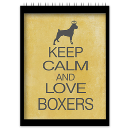 "Блокнот ""boxer"" - боксёр, keep calm, boxer"