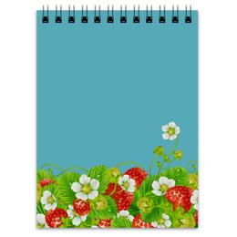 """Блокнот """"Земляничная поляна"""" - лето, цветы, ягоды, земляника"""