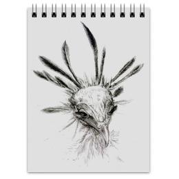 "Блокнот ""Птица секретарь"" - арт, рисунок"
