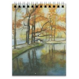 """Блокнот """"Осень в парке"""" - пейзаж, акварель, парк, гадчина"""