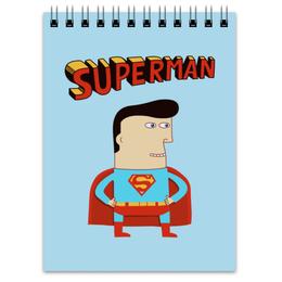 """Блокнот """"Супермен"""" - супермен, прикольные, комиксы, superman, супергерои"""